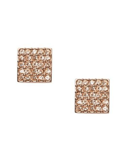 Fossil | Metallic Jf01831791 Ladies Earrings | Lyst