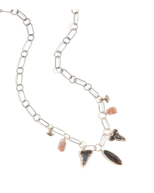 Melissa Joy Manning | Multicolor Druzy, Bloodstone, And Charm Necklace | Lyst