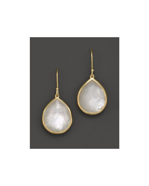 Ippolita | Metallic 18k Gold Rock Candy Teardrop Earrings In Mother-of-pearl Doublet | Lyst