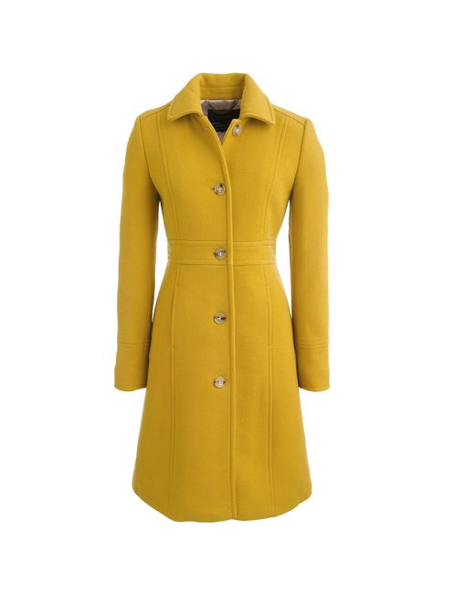 J.Crew | Yellow Tall Double-cloth Lady Day Coat With Thinsulate | Lyst