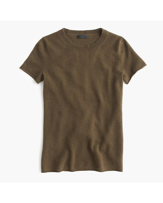 J.Crew | Natural Italian Cashmere Short-sleeve T-shirt | Lyst
