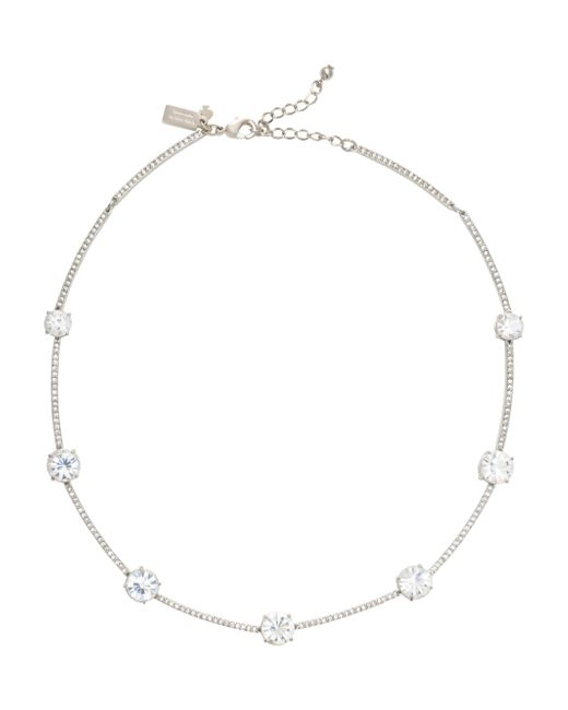 Kate Spade | White Clink Of Ice Short Scatter Necklace | Lyst