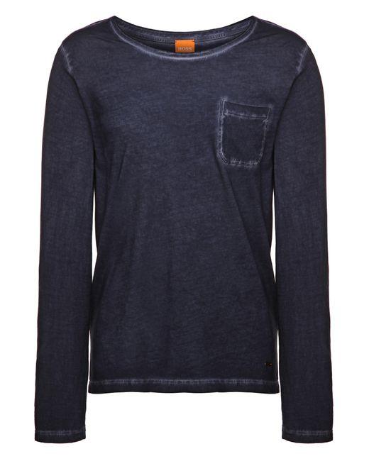 BOSS Orange | Blue Long-sleeved Shirt 'toulon' In Cotton for Men | Lyst