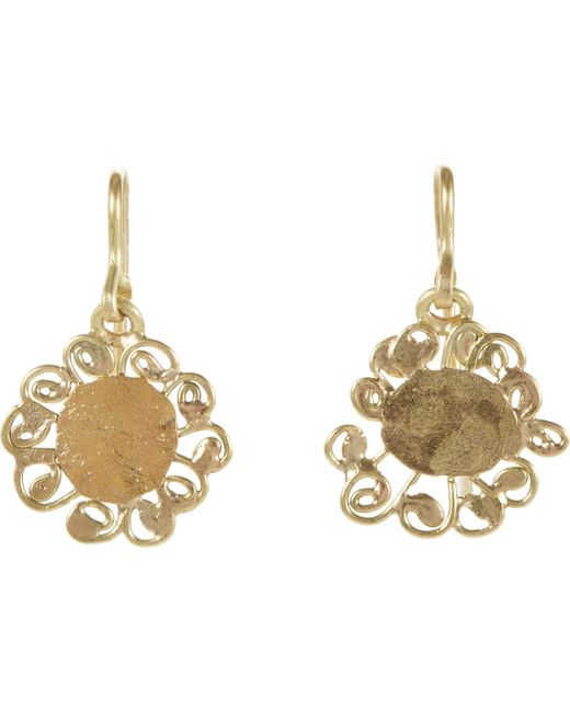 judy geib dangling flower earrings in gold colorless lyst