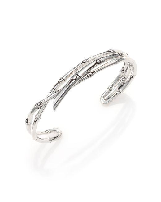 John Hardy | Metallic Bamboo Sterling Silver Multi-Row Cuff Bracelet | Lyst
