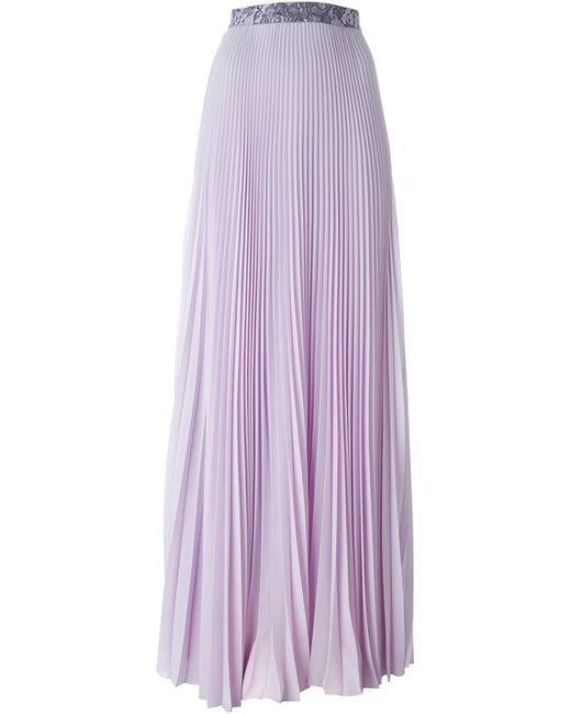 christopher pleated maxi skirt in pink pink purple