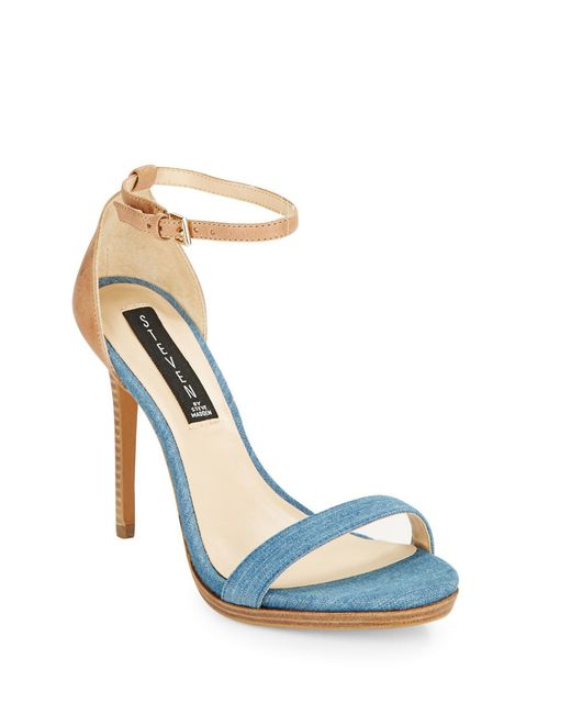 Steven by Steve Madden | Natural Rykie Leather Stilettos | Lyst