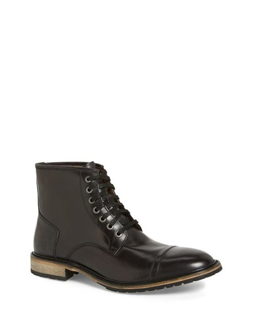Andrew Marc | Black 'norwood' Cap Toe Boot for Men | Lyst