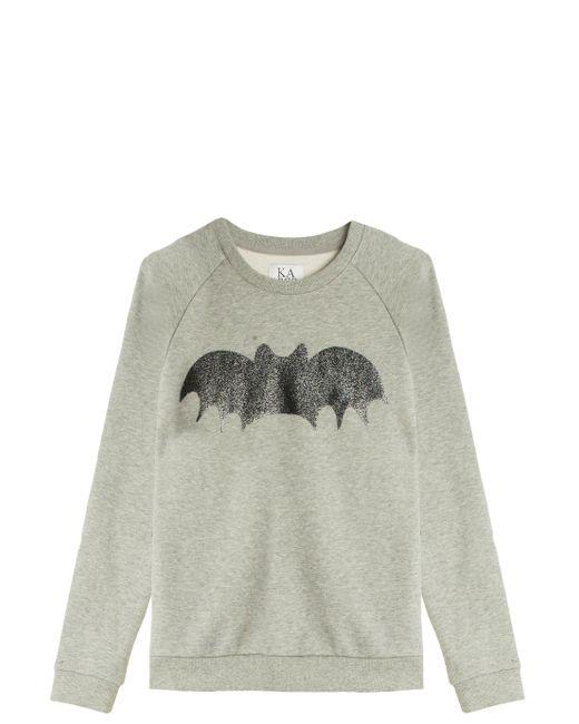 Zoe Karssen | Gray Sparkle Bat Sweatshirt | Lyst