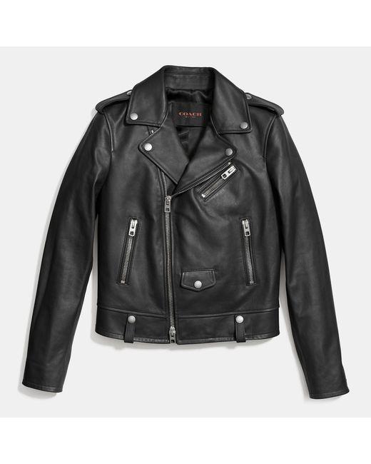 COACH | Black Icon Moto Jacket | Lyst