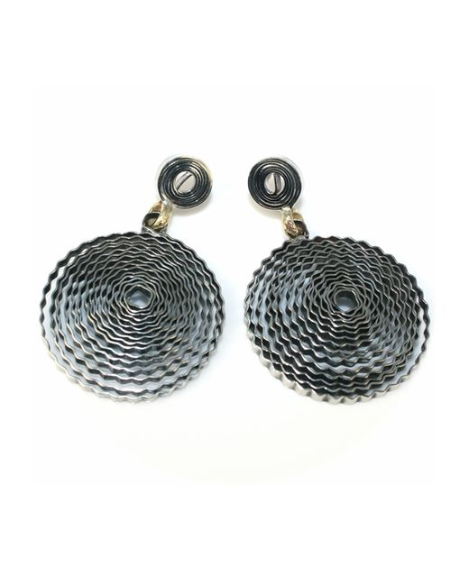 Sibilla G Jewelry | Metallic Spiral Galaxy Textured Silver Earrings | Lyst