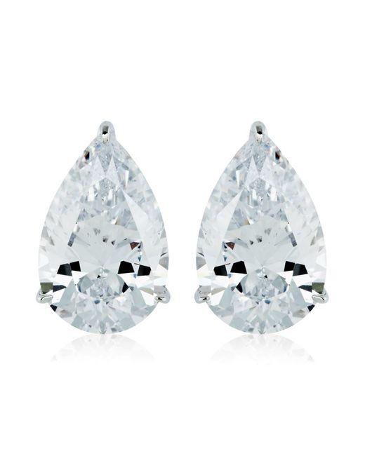Carat* | Metallic 2ct Pear Cut Stud Earrings | Lyst