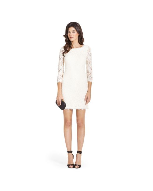 Diane von Furstenberg | White Zarita Lace Dress | Lyst