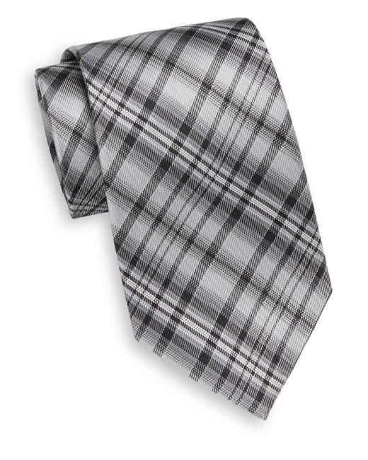 Burma Bibas | Black Plaid Silk Tie for Men | Lyst