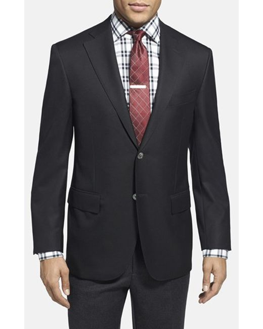 Corneliani | Black Trim Fit Wool Blazer for Men | Lyst
