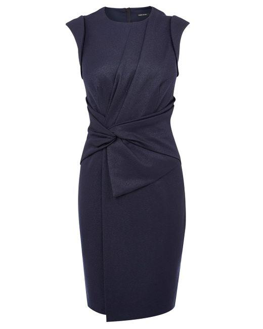 Karen Millen Asymmetric Flared Dress In Blue Save 33 Lyst