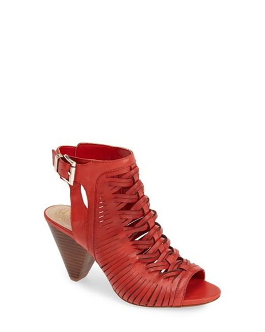 Vince Camuto | Red 'emore' Leather Sandal | Lyst