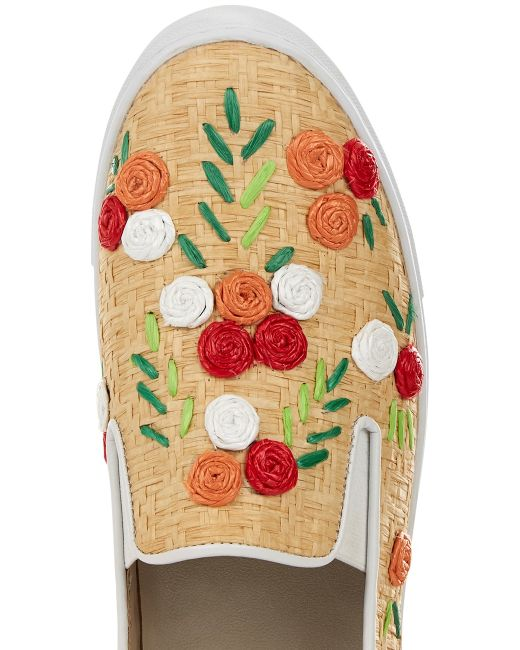 chloe purses - Isa tapia Floral Natural Raffia Frida Sneakers in Multicolor ...