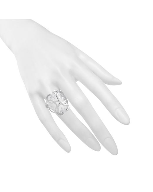 Thomas Sabo | White Ornament Sterling Silver Ring | Lyst