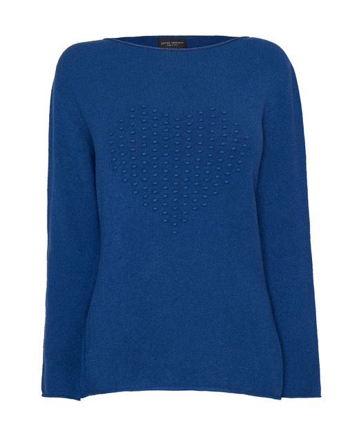 James Lakeland | Blue Heart Knit Jumper | Lyst