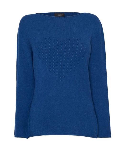 James Lakeland | Blue Heart Knit Jumper | Lyst