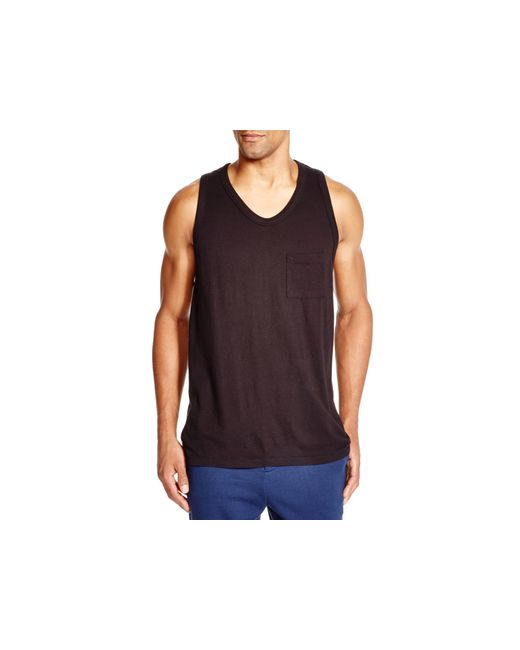 T By Alexander Wang | Black Pocket Tank for Men | Lyst