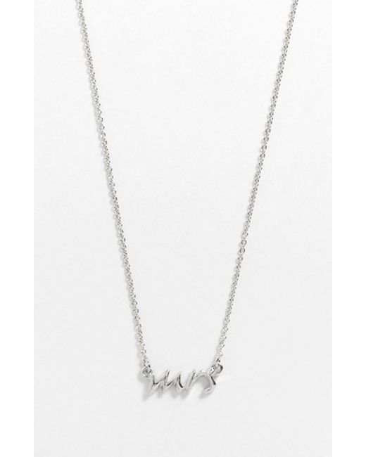 Kate Spade | Metallic 'say Yes - Mrs' Necklace | Lyst