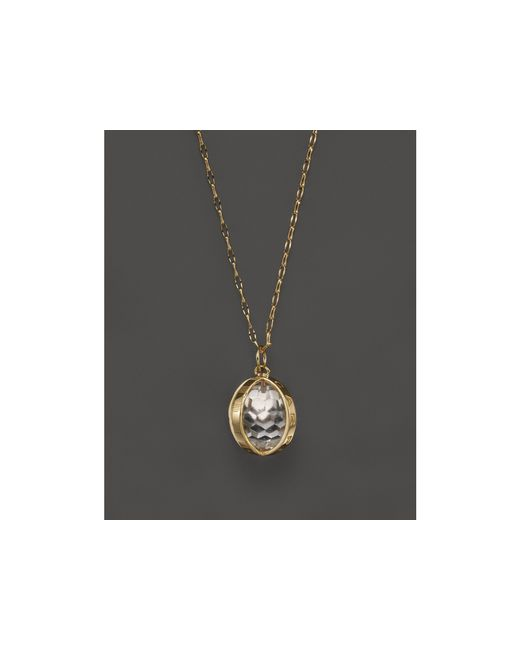 Monica Rich Kosann | Metallic 18k Yellow Gold Carpe Diem Necklace With Crystal, 30"