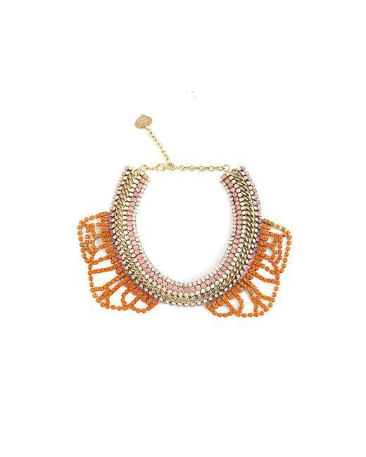 toi et moi clea orange swarovski collar in orange lyst. Black Bedroom Furniture Sets. Home Design Ideas