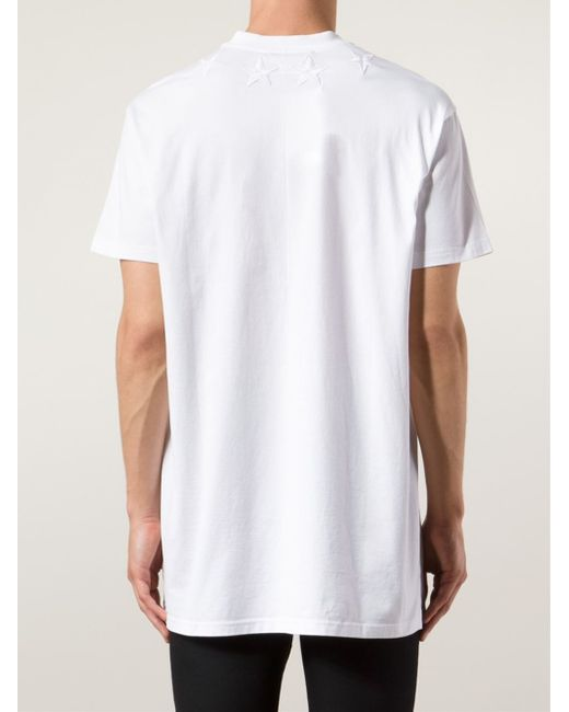 Givenchy star patch t shirt in white for men lyst for Givenchy star t shirt
