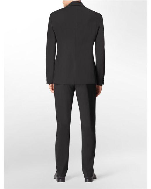 Calvin klein x fit ultra slim fit black suit jacket in for Calvin klein x fit dress shirt