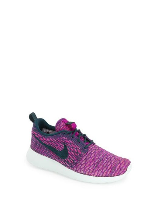Nike | Purple Flyknit Roshe Run Sneaker | Lyst