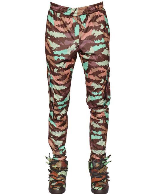 New  Womens Adidas Originals CAMO Camouflage TREFOIL LEGGINGS Pants Green