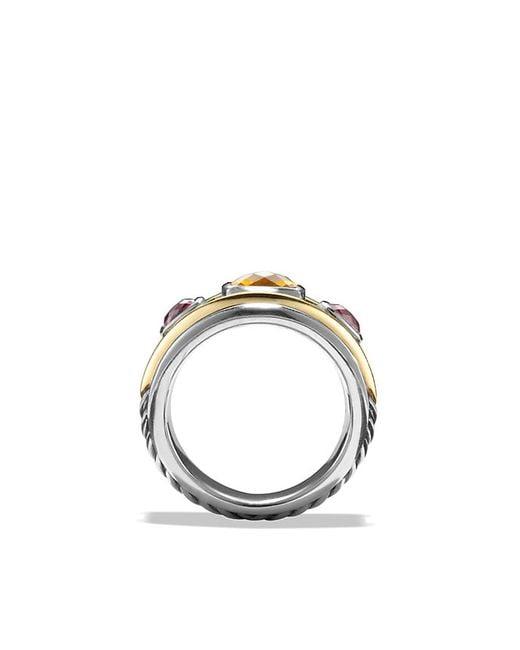 David Yurman | Metallic Ring With Citrine, Rhodalite Garnet And 14k Gold | Lyst