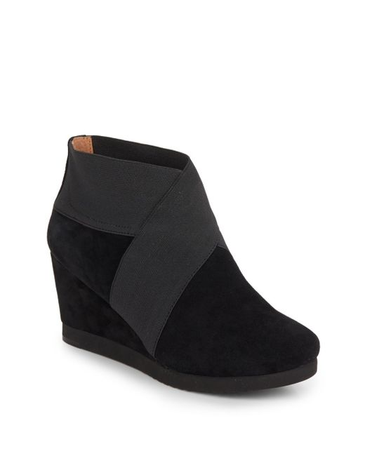 Gentle Souls | Black Two For Dawn Suede Booties | Lyst