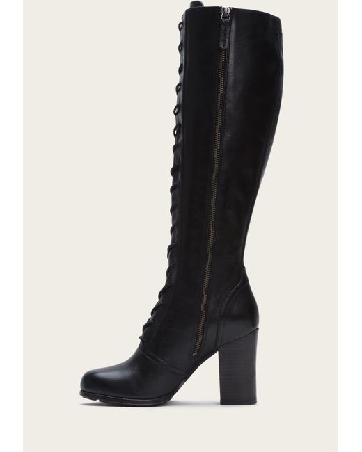 Frye   Black Parker Tall Lace Up   Lyst