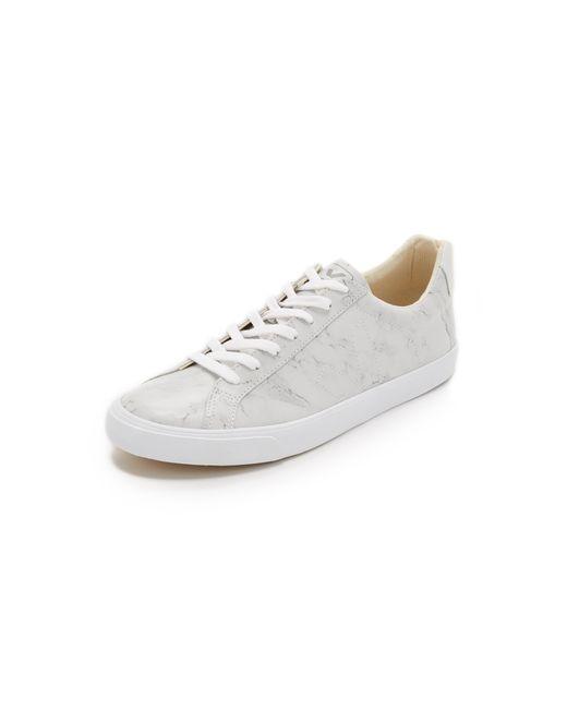 Veja Esplar Leather Sneakers In Gray For Men Marble Lyst
