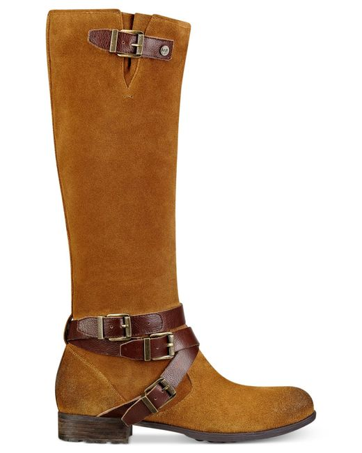 marc fisher brown noreene boots lyst