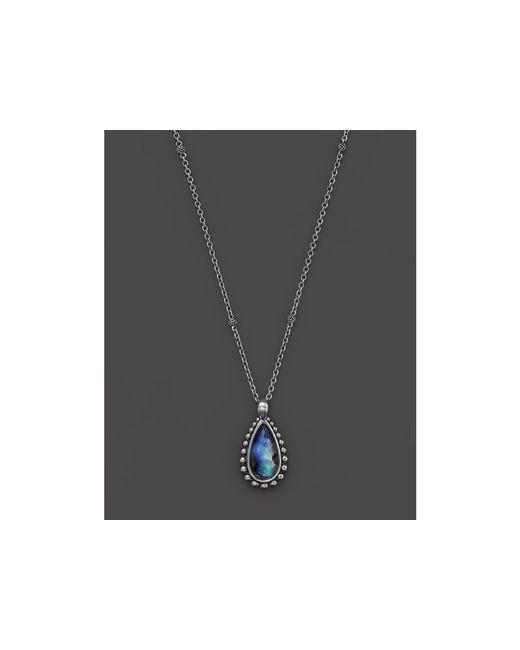 "Lagos | Blue Sterling Silver Maya Abalone Teardrop Pendant Necklace, 16"" | Lyst"