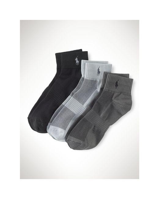 Polo Ralph Lauren   Gray Quarter Sport Sock 3-pack for Men   Lyst
