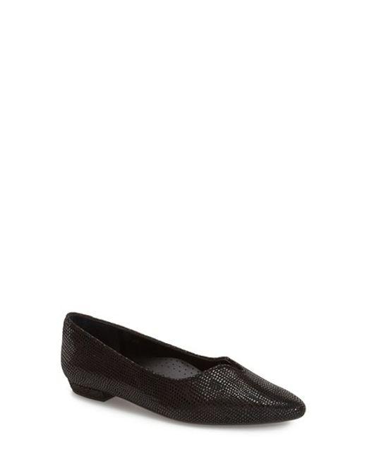 Vaneli | Black 'Ganet' Pointy Toe Flat | Lyst