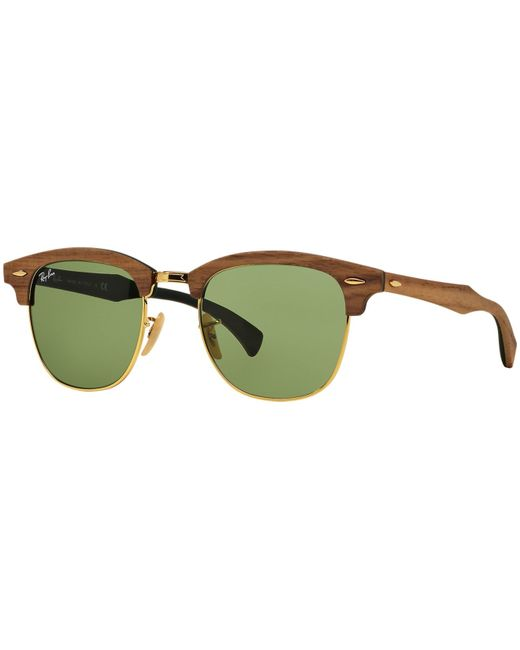 Ray-Ban | Green Sunglasses, Rb3016m 51 Clubmaster for Men | Lyst