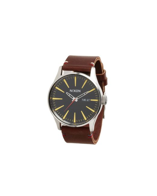 Nixon   Black The Sentry Leather - The Luxe Heritage Collection   Lyst