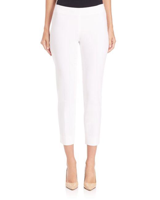 Lafayette 148 New York | White Stanton Bi-stretch Pants | Lyst