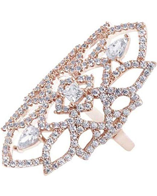 Carat* | Pink Willa Heroines Rose Gold Finish Ring | Lyst