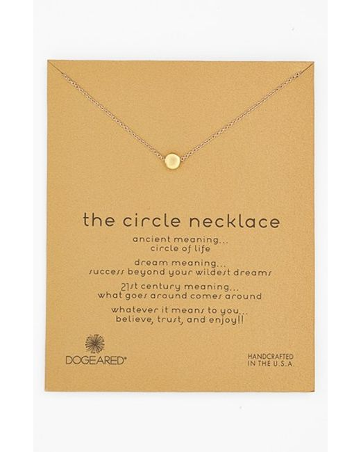 Dogeared | Metallic 'reminder - The Circle' Pendant Necklace | Lyst