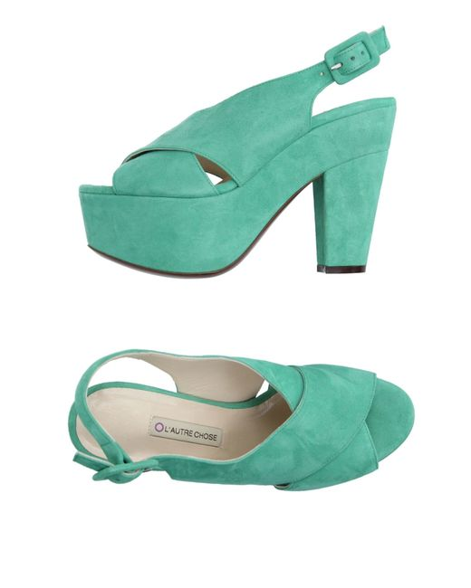 L'Autre Chose | Green Sandals | Lyst