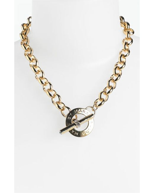 Marc By Marc Jacobs | Metallic 'toggles & Turnlocks' Link Necklace | Lyst