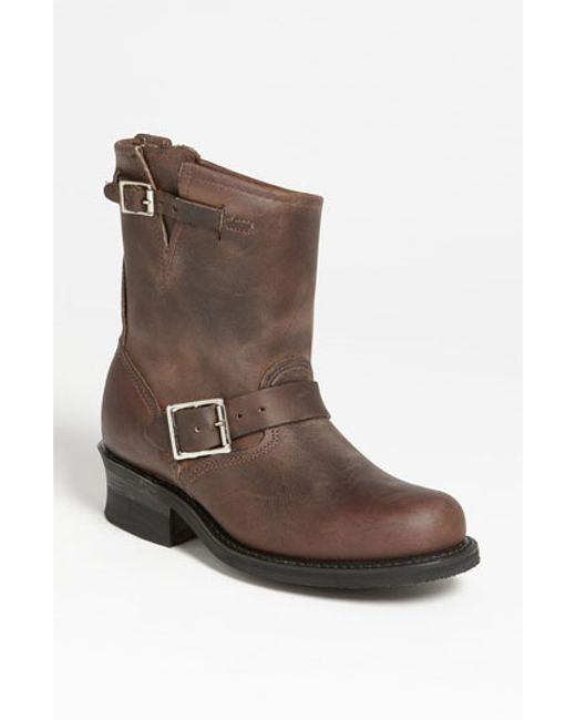 Frye | Brown 'engineer 8r' Leather Boot | Lyst