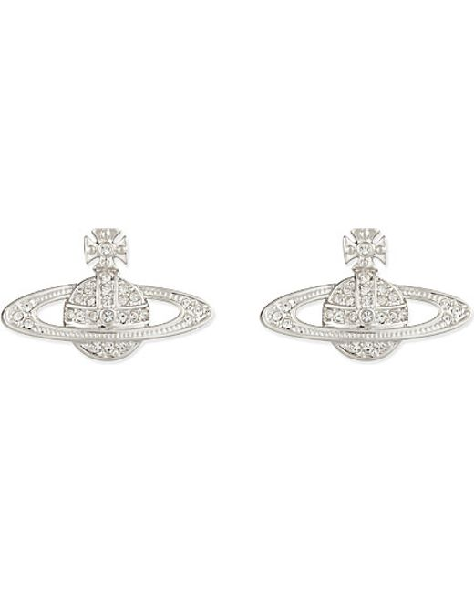 Vivienne Westwood | Metallic Bas Relief Orb Earrings | Lyst